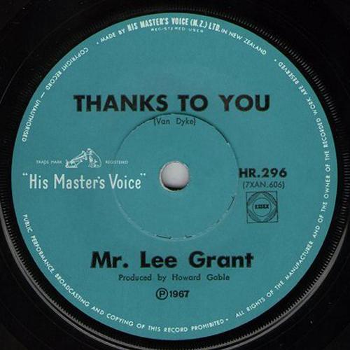 Mr Lee Grant Thanks To You
